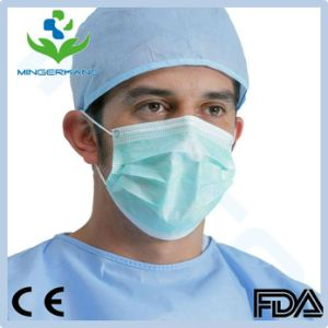 Xiantao Hubei MEK 3 Ply Face Mask with Earloop Surgical Mask High Filtration (BFE>99.9%) pictures & photos