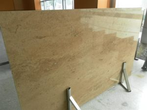 Golden Travertine Slab for Countertops and Building Materials