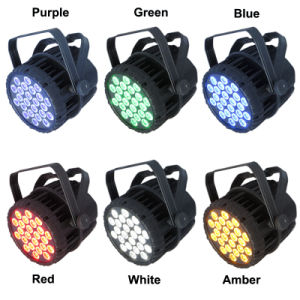 Outdoor IP65 24*18W 6in1 Full-Color LED PAR Can Light pictures & photos