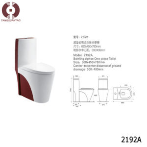 Decoration Sanitary Ware One Piece Toilet (2192A) pictures & photos
