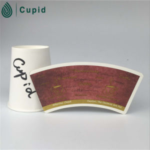 Hztl Paper Cup Fans Coated PE with Printing and Cutting pictures & photos