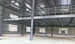 Two Floors Light Steel Structure Prefab Warehouse Workshop Metal Shed pictures & photos