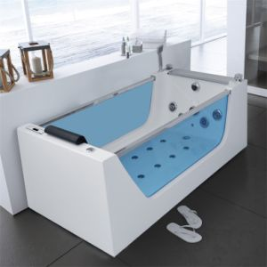 Whirlpool indoor rund  China Comfortable Shower Built-in Whirlpool Massage Bathtub with ...