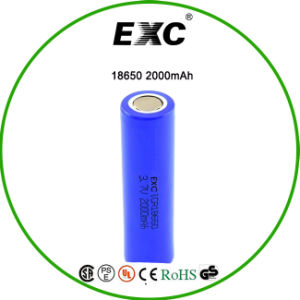 Lithium Ion Battery Cell 18650 Rechargeable 3.7V 2000mAh pictures & photos