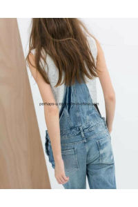 High Quality Classic Slim Denim Ladies Jeans Overall Women Pants pictures & photos