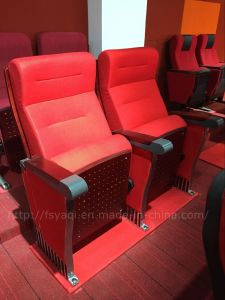 Aluminum Modern Armrest Cinema Chair / Theater Chair Cover Fabric / Theater Auditorium Chair (YA-818) pictures & photos