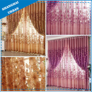 Bedroom Fire Flower Double-Faced Curtains pictures & photos