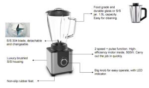 1.5L Luxury Brushed S/S Housing Table Blender pictures & photos