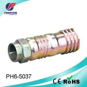 Rg11 F Crimp Coaxial Cable CATV RF Connector (pH6-5037) pictures & photos
