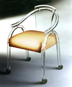 Home Furniture Acrylic Dining Chair Banquet Chair with Casters
