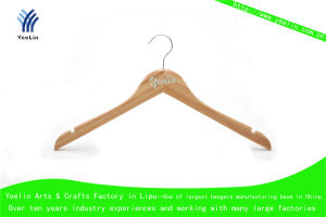High Quality, Cheap Price and Regular Clothes Bamboo Hanger Ylbm6612-Ntln1 for Supermarket, Wholesaler with Shiny Chrome Hook pictures & photos