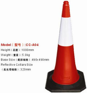 En13422 PE Traffic Cone with Reflective Tape pictures & photos