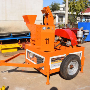 Sei1-20 Mobile Hydraulic Clay Interlocking Brick Machine pictures & photos