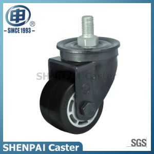 "2.5""Low Barycenter Rubber Threaded Stem Swivel Caster Wheel pictures & photos"