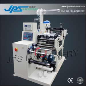 Adhesive Label Slitting Machine with Turret Rewinder (optional: die cutting machine station) pictures & photos