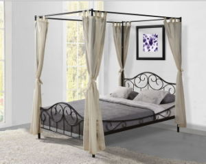 Metal Bed for Bed Room, Steel Tube with Powder Coating