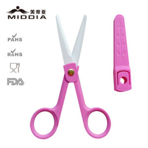 "2"" Ceramic Baby Food Scissors with Sheath and Plastic Case pictures & photos"