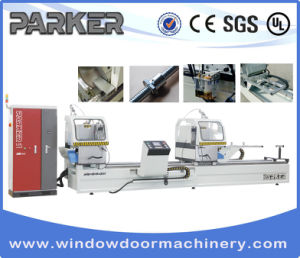 CNC Control High Precision Aluminum Window Door Double Mitre Cutting Saw pictures & photos
