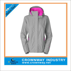 Ladys 2.5 Layer Full Zipper Lightweight Windbreaker Jacket pictures & photos