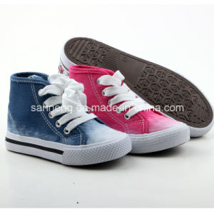 Children′s New Deigns Canvas Color Shoes (SNK-241570) pictures & photos