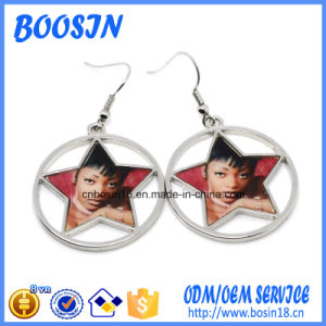 Factory Custom Blank Photo Charm Earrings for Promotion pictures & photos