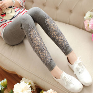 Modal Cotton Lace High Waist Outer Wear Leggings pictures & photos