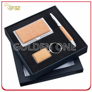 Executive Gift Wooden Card Holder and Keychain Gift Set pictures & photos
