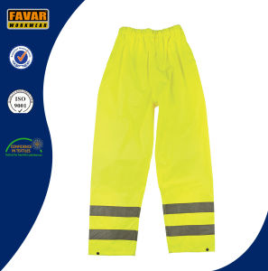 Elasticated Waist Hi-Vis Reflective Waterproof Rain Pants pictures & photos
