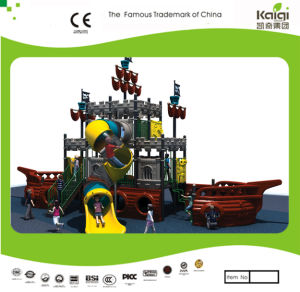 Kaiqi Medium Sized Pirate Ship Themed Children′s Outdoor Playground with Slides (KQ20081A) pictures & photos