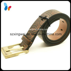 Retro Style PU Leather Belts with Gold Metal Buckle pictures & photos