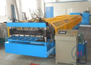 PPGI Trapezoidal Galvanized Steel Roof Panel Roll Forming Machine pictures & photos