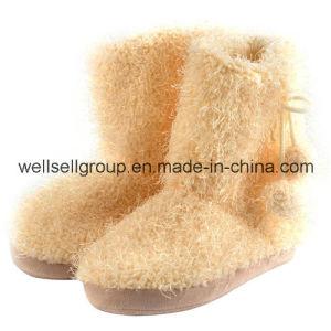 Women Winter Fur Long Snow Boots (CPS-072) pictures & photos