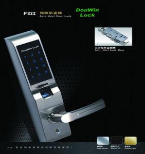 Douwin Fingerprint Digital Touch Screen Door Lock Ce and FCC pictures & photos