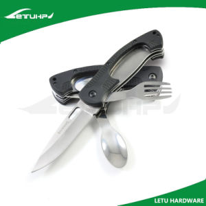 Camping Multi Function Camping Knife with Fork and Spoon
