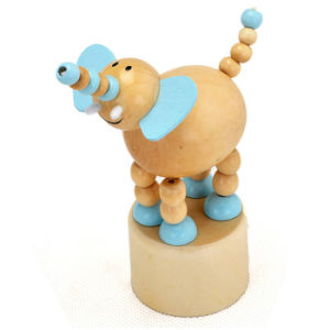2015 Educational Wood Animal Spring Toy, Wooden Spring Animal Toy for Baby, Pretend Play Wooden Animal Toy Spring Game W06D082 pictures & photos