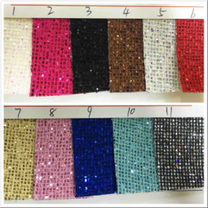 Gl-297 Decorative Shiny Glitter Wallpaper Fabric pictures & photos