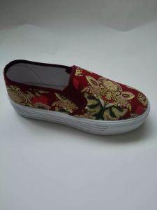 Women Canvas Casual Shoes Fashion Flat Shoes (NU065)