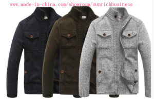 Men′s Knitted Cardigan Sweater (MY024) pictures & photos