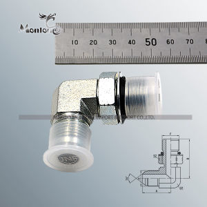90 Degree Elbow Jic Male 74 Degree Cone SAE O-Ring Boss L-Series ISO 11926-3 Adapter (1JO9) pictures & photos