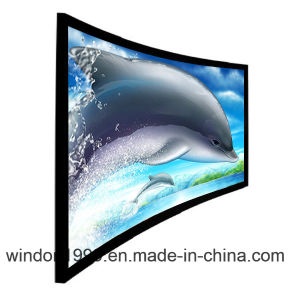 "133"" 16: 9 Curved Projection Screens, Projector Screen pictures & photos"
