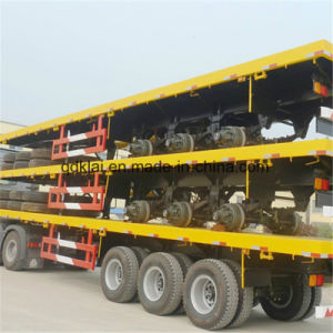 Cimc 40 Feet Flat Bed Container Semi Trailer in Africa pictures & photos