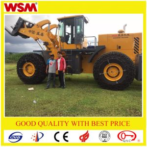 Wsm973t32-I Forklift Wheel Loader with Forklift and Bucket Exported to Uganda pictures & photos