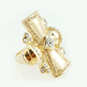 14k Gold Plating Bowknot for Fashion Jewelry Ring (A04284R1S)