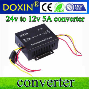 Single Output Type DC-DC 60W Converter 24V to 12V 5A Frequency Converter pictures & photos