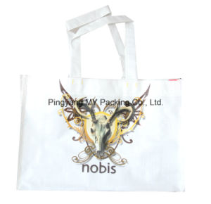 Portable Cmyk Print Glossy Lamination PP Woven Grocery Shopping Bag pictures & photos
