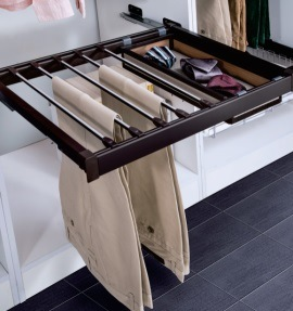 Wardrobe System China Sliding Pants Rack Products pictures & photos