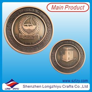 Anniversary Coin Custom Coin with Plated Antique Bronze pictures & photos