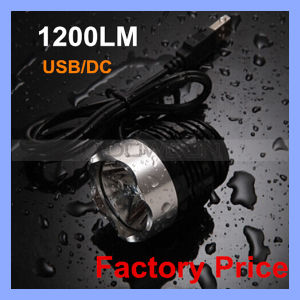 Rechargeable 1200lm CREE T6 LED USB Bicycle Light pictures & photos