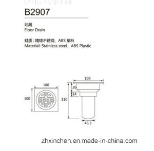 Xc-B2907 High Quality Bathroom Accessories Floor Drain pictures & photos