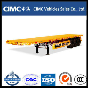 Cimc 40FT Flat Bed 3 Axles Container Semitrailer pictures & photos
